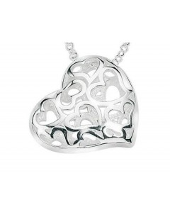 Mon-bijou - D2589 - Collier coeur en argent 925/1000