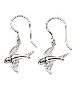 Mon-bijou - D5739 - Boucle d'oreille hirondelle en argent 925/1000