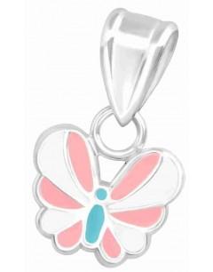 Mon-bijou - H36656 - Collier papillon en argent 925/1000