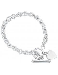 Bracelet coeur en argent 925/1000