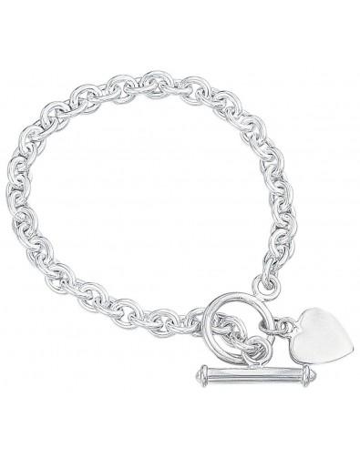 mon bijou d066 bracelet coeur en argent 925 1000. Black Bedroom Furniture Sets. Home Design Ideas