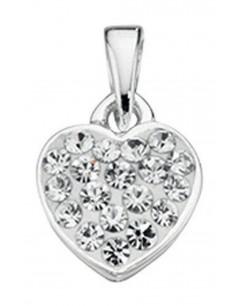 Mon-bijou - D3298 - Collier coeur et zirconium en argent 925/1000