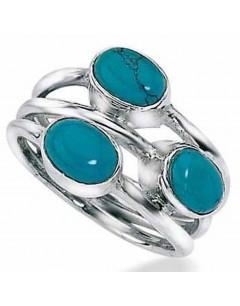 Mon-bijou - D2525 - Bague turquoise en argent 925/1000