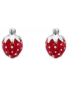 Mon-bijou - DC165 - Superbe Boucle d'oreille fraise pour petite fille en argent 925/1000