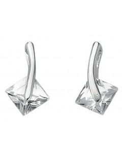 Mon-bijou - D3421c - Boucle d'oreille zirconia en argent 925/1000
