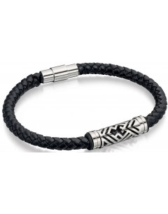 Mon-bijou - D4725 - Bracelets chic cuir en acier inoxydable