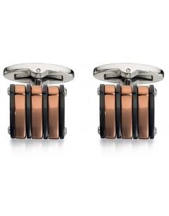 Mon-bijou - D503 - Bouton de manchette plaqué Or cuivré en acier inoxydable