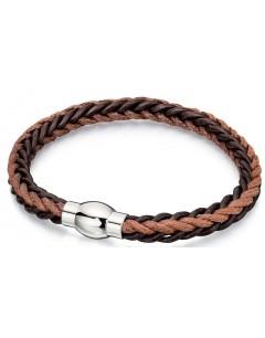 Mon-bijou - D4737 - Bracelets chic cuir en acier inoxydable
