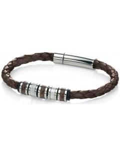 Mon-bijou - D4209 - Bracelets chic cuir en acier inoxydable