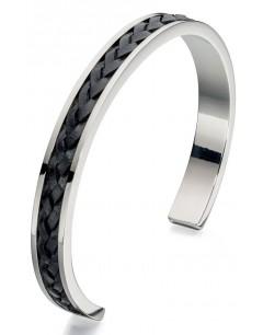 Mon-bijou - D4723c - Bracelets chic cuir en acier inoxydable