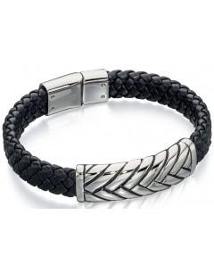 Mon-bijou - D4722 - Bracelets chic cuir en acier oxydées
