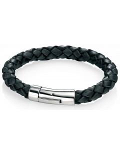 Mon-bijou - D3672 - Bracelets chic cuir en acier inoxydable