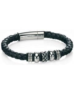 Mon-bijou - D4211 - Bracelets chic cuire en acier inoxydable