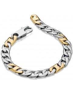 Mon-bijou - D4740 - Bracelet chic plaqué Or en acier inoxydable
