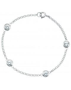 Bracelet original zirconia en argent 925/1000