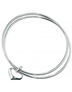 Double bracelets coeur en argent 925/1000
