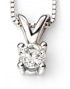 Mon-bijou - D264c - Superbe collier diamant solitaire en Or blanc 375/1000