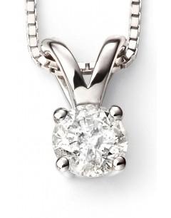 Mon-bijou - D265c - Superbe collier diamant solitaire en Or blanc 375/1000