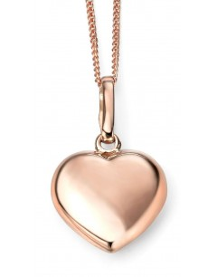 Mon-bijou - D926c - Collier tendance coeur en Or rose 375/1000