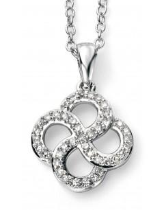 Mon-bijou - D937a - Superbe collier diamant en Or blanc 375/1000