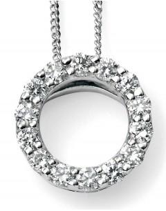 Mon-bijou - D948c - Superbe collier diamant en Or blanc 375/1000