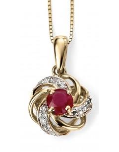 Mon-bijou - D977 - Jolie collier rubis et diamant en Or 375/1000