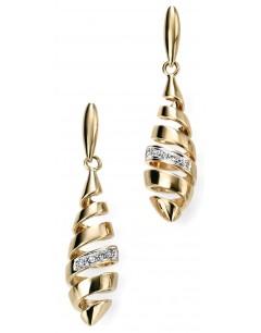 Mon-bijou - D2018d - Boucle d'oreille tendance diamant en Or 375/1000