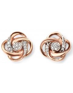 Mon-bijou - D2064 - Boucle d'oreille diamant en Or rose 375/1000