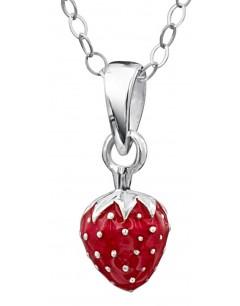 Mon-bijou - DP165 - Superbe collier fraise pour petite fille en argent 925/1000