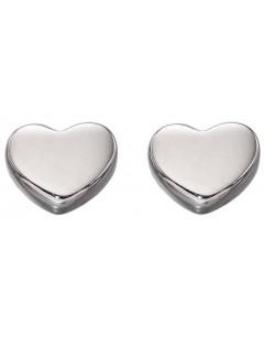 Mon-bijou - D2178 - Boucle d'oreille coeur en Or blanc 375/1000