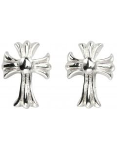 Mon-bijou - D959 - Boucle d'oreille croix en argent 925/1000