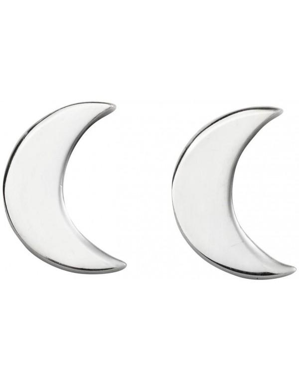 boucle d'oreille argent lune