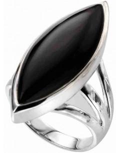Mon-bijou - D3522 - Bague tendance Onyx en argent 925/1000