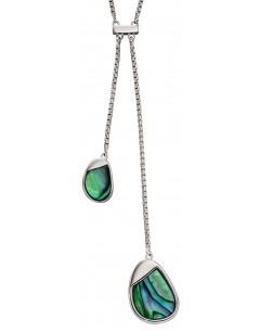 Mon-bijou - D4371 - Collier tendance émaille en argent 925/1000