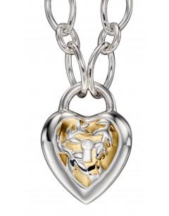 Mon-bijou - D4373c - Collier original coeur plaqué or en argent 925/1000