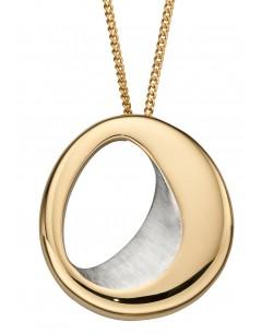 Mon-bijou - D4852 - Collier tendance et chic plaqué or en argent 925/1000