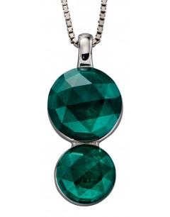 Mon-bijou - D4855 - Collier tendance christal couleur émeraude en argent 925/1000