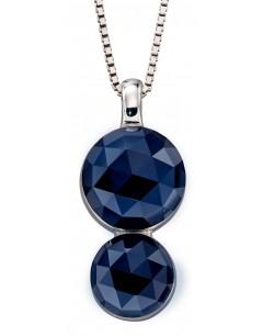 Mon-bijou - D4856 - Collier tendance en christal couleur saphir en argent 925/1000