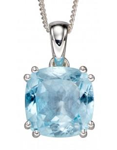 Mon-bijou - D4861a - Collier tendance topaze bleu en argent 925/1000