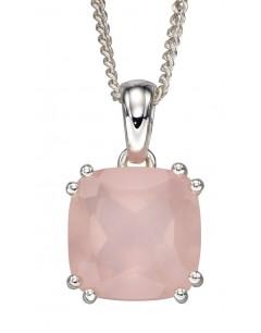 Mon-bijou - D4862 - Collier tendance quartz rose en argent 925/1000