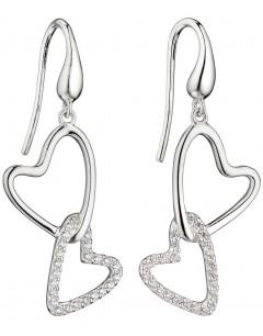 Mon-bijou - D5816 - Boucle d'oreille coeur chic et classe en argent 925/1000