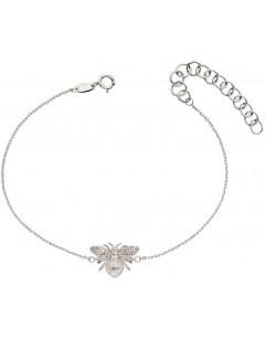 Mon-bijou - D482a - Bracelet abeille en or blanc 375/1000