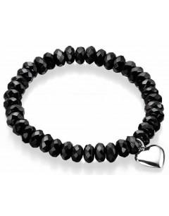 Mon-bijou - D3923a - Bracelet agate et coeur en argent 925/1000