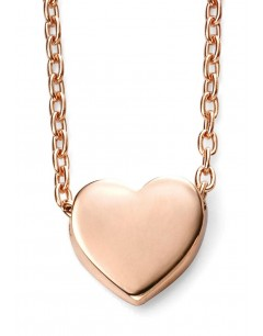 Mon-bijou - D235c - Jolie collier coeur en Or rose 375/1000