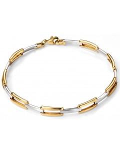 Mon-bijou - D427 - Bracelet tendance en Or blanc et Or 375/1000