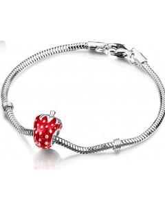 Mon-bijou - DRAC8 - Superbe bracelet fraise pour petite fille en argent 925/1000