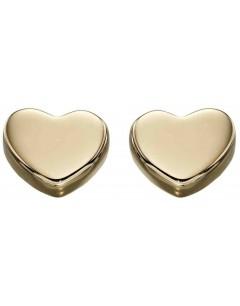 Mon-bijou - D2179 - Boucle d'oreille coeur en Or 375/1000