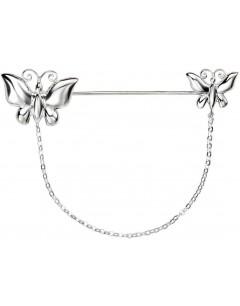 Mon-bijou - D347c - Broche papillons en argent 925/1000