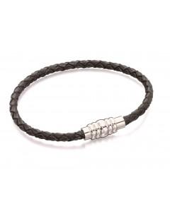 Mon-bijou - D4997 - Bracelet inoxydable en cuir