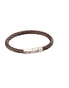 Mon-bijou - D5118 - Bracelet torsadé en acier inoxydable